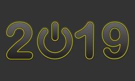 Hintergrund 2019 Vektorabbildung ENV 10 stockbild