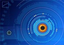 Hintergrund-Vektordesign der abstrakten Technologie digitales Lizenzfreies Stockfoto