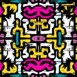 Hintergrund-Vektorillustration der Graffiti empfindliche abstrakte nahtlose Lizenzfreie Stockfotos