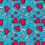 Hintergrund-Vektorillustration Graffiti-Valentine Days nahtlose der Schmutzbeschaffenheit Lizenzfreie Stockfotografie