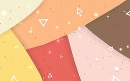 Hintergrund-Vektorillustrationen der Farbform abstrakte lizenzfreie abbildung