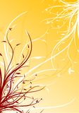 Hintergrund-vektormit blumenabbildung des abstrakten Frühlinges dekorative Lizenzfreie Stockbilder