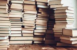 Hintergrund vieler Bücher Lizenzfreies Stockbild