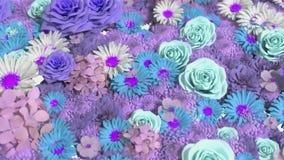 Hintergrund vieler Blumen stock footage