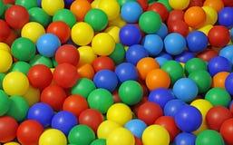 Hintergrund vieler farbigen Plastikbälle in einem Pool stockbilder