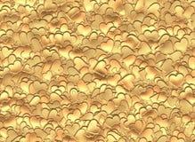 Hintergrund vieler Goldherzen des Valentinstags Lizenzfreie Stockfotografie
