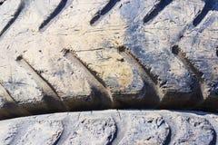 Hintergrund vom LKW- oder Traktorreifen Stockfoto