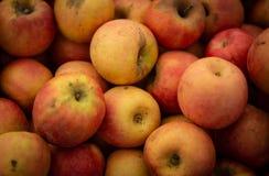 Hintergrund von Äpfeln Stockfoto