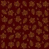 Hintergrund von Ahorn- und Eichenblättern Stockfotografie