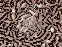 Hintergrund von Alphabeten Lizenzfreies Stockfoto
