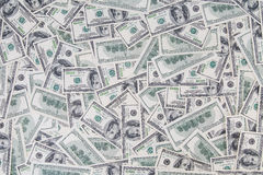 Hintergrund von altem angeredet hundert Dollarscheinen Lizenzfreie Stockfotografie