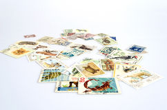 Hintergrund von alten Briefmarken Lizenzfreie Stockbilder