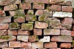 Hintergrund von alten Ziegelsteinen Stockfotografie