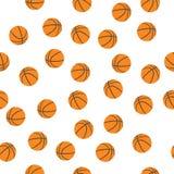 Hintergrund von Basketbällen Stockbild