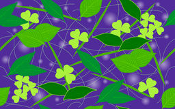 Hintergrund von Blättern Stockbild