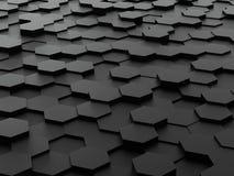 Hintergrund von Blöcken des Hexagons 3d Lizenzfreie Stockfotografie