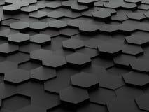 Hintergrund von Blöcken des Hexagons 3d Lizenzfreie Stockfotos