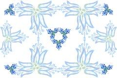 Hintergrund von blauen Glocken Stockbilder