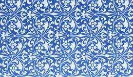 Hintergrund von blauen und weißen Mustern Lizenzfreie Stockbilder