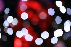 Hintergrund von Bokeh vom Weihnachtslicht Stockbild