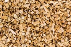 Hintergrund von braunen Holzspänen Beschaffenheit Stockbild