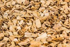 Hintergrund von braunen Holzspänen Beschaffenheit Lizenzfreies Stockfoto