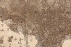 Hintergrund von Brown und von beige Gips Die alte Wand des Gipses Lizenzfreies Stockbild