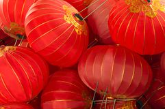 Hintergrund von chinesischen roten Laternen stockfotos