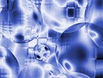 Hintergrund von den blauen Kugeln Lizenzfreie Stockbilder