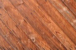 Hintergrund von den diagonalen hölzernen Planken lizenzfreies stockbild