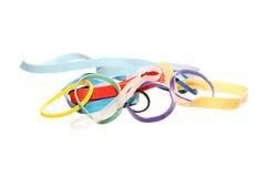 Hintergrund von den elastischen Bändern der Farbe Lizenzfreie Stockfotografie