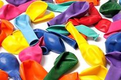 Hintergrund von den farbigen Ballonen. Stockfotografie
