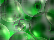 Hintergrund von den grünen Kugeln Stockbild