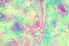 Hintergrund von den mehrfarbigen chaotischen Spiralen lizenzfreie stockbilder
