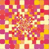 Hintergrund von den mehrfarbigen Quadraten Stockfoto
