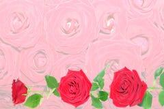 Hintergrund von den roten Rosen. stockbild
