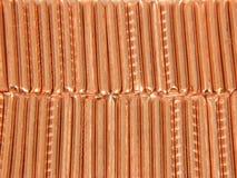 Hintergrund von den Scheiben des Kupfers Lizenzfreie Stockfotos