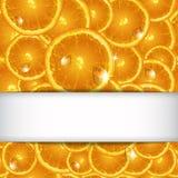 Hintergrund von den Segmenten orange mit Tropfen Lizenzfreie Stockbilder