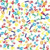 Hintergrund von den Zahlen von verschiedenen Farben und von Größen stock abbildung