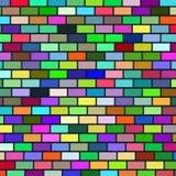 Hintergrund von der mehrfarbigen Backsteinmauer Lizenzfreies Stockfoto