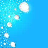 Hintergrund von Diamanten für Design stock abbildung