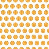 Hintergrund von Dollarmünzen Lizenzfreie Stockfotografie