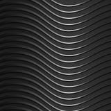 Hintergrund von dunklen, metallischen, glänzenden, gewellten Bändern Moderne Art 3d Tapete für die Website lizenzfreie abbildung
