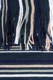 Hintergrund von einem gestreiften Gewebe Stockfotos