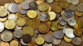 Hintergrund von Euromünzen Lizenzfreie Stockfotografie
