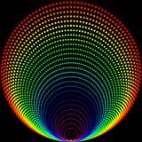Hintergrund von farbigen Bällen auf einem schwarzen Hintergrund stock abbildung
