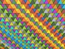 Hintergrund von farbigen Dreiecken Stockfotografie