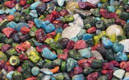 Hintergrund von farbigen Steinen des Üblichen Lizenzfreie Stockfotografie