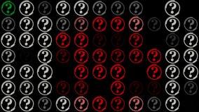 Hintergrund von Fragezeichen auf Schwarzem stock abbildung