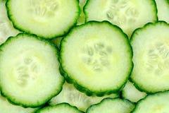 Hintergrund von frischen Gurken Stockbild